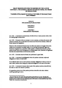 1 DRAFT ORDONNANCE FOR THE REFORM OF THE ... - textes justice