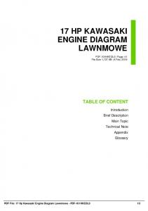 17 hp kawasaki engine diagram lawnmowe dbid o7w