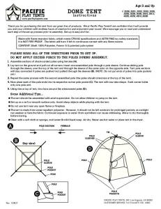 2-Pole Dome Tent Instructions