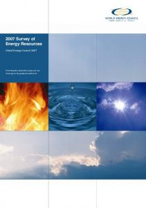 2007 Survey of Energy Resources - Hussonet