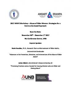2017 MMFC Workshop – Abuse of Older Women: Strategies for a ...