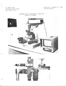 54-d2 Equipment for TV microscopy using the philips