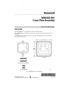 69-1742EFS.fm 50005625-001 Cover Plate Assembly ... - Honeywell