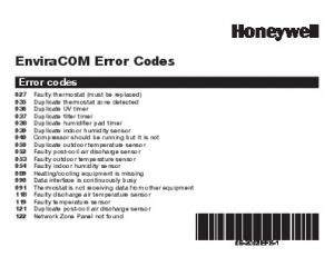 69-2063EFS-1 - EnviraCOM Error Codes - SupplyHouse.com