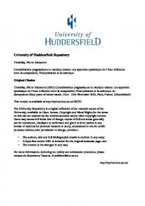 a Case Study of - the University of Huddersfield Repository