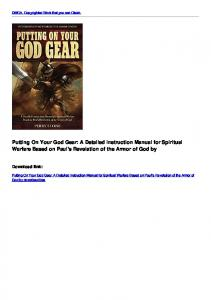 A Detailed Instruction Manual for Spiritual Warfare Based on Paul's