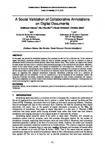 A Social Validation of Collaborative Annotations on Digital ... - Irit