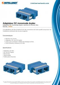 Adaptateur SC monomode duplex - Intellinet Network