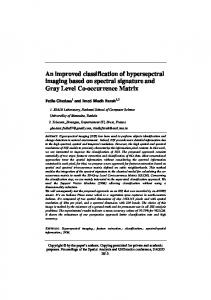 An improved classification of hypersepctral imaging based on spectral ...