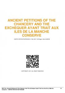 ancient petitions of the chancery and the exchequer ...  AWS