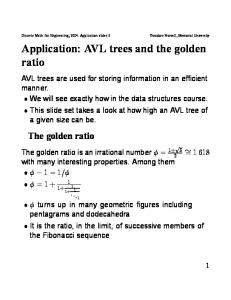 Application: AVL trees and the golden ratio