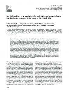 Are different facets of plant diversity well protected against ... - WSL