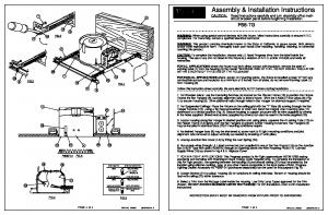 Assembly & Installation Instructions