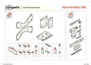 Assets/CE/TV Mounts/EOL PRODUCTS/3766562 WALL 1105 Parts List V2 Print Version