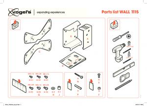 Assets/CE/TV Mounts/EOL PRODUCTS/3766565 WALL 1115 Parts List V2 Print Version