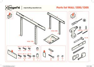 Assets/CE/TV Mounts/EOL PRODUCTS/3766571 WALL1205 1305 Parts List V2 Print Version