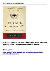 At Your Command: The First Classic Work by the Visionary Mystic ...