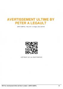 avertissement ultime by peter a legault -83pdf-aubpal  AWS