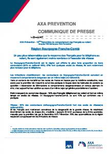 axa preve communiq axa prevention communique de presse ique de ...