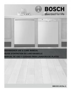 Bosch She43r55uc Use And Care Manual