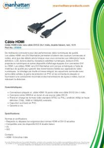 Câble HDMI - Manhattan Products
