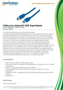 Câble pour dispositif USB SuperSpeed