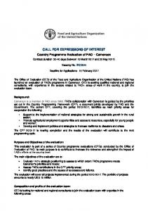 call for expressions of interest - Food and Agriculture Organization of ...
