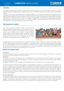 cameroon: weekly notes - data.unhcr.org