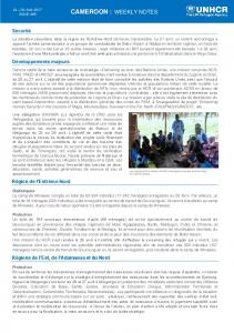 cameroon : weekly notes - data.unhcr.org