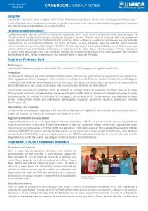 cameroon : weekly notes - UNHCR