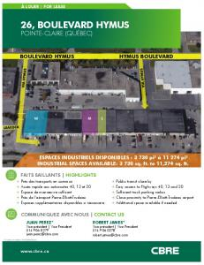 CBRE - 26 Hymus, Point-Claire - Brochure - PDFHALL.COM
