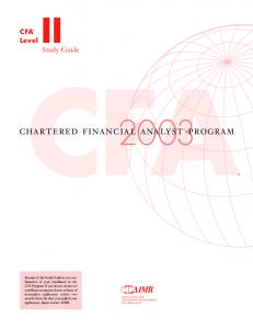 chartered financial analyst™ program - MAFIADOC.COM