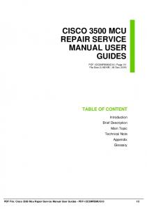 cisco 3500 mcu repair service manual user guides dbid ag