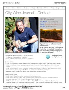 City Wine Journal - Contact