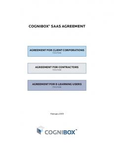 cognibox® saas agreement