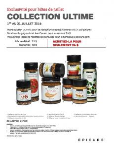 collection ultime - Epicure