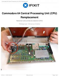Commodore 64 Central Processing Unit (CPU) Remplacement