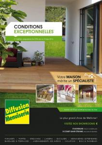 conditions exceptionnelles - Diffusion Menuiserie