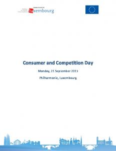 Consumer and Competition Day