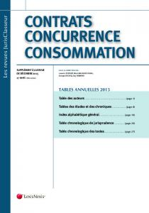 contrats concurrence consommation - LexisNexis