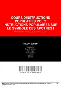 cours dinstructions populaires vol 2 instructions ...  AWS
