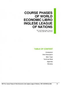 course phases of world economic libro inglese league of nations dbid 3r