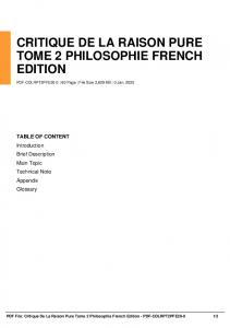 critique de la raison pure tome 2 philosophie french edition dbid 10udk
