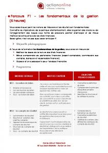 Ctalogue complet - Action On Line