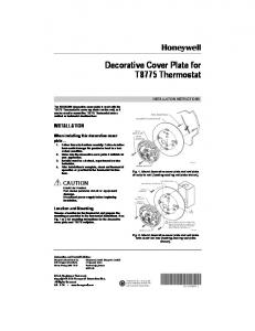 Decorative Cover Plate for T8775 Thermostat - Jackson Systems