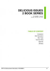 delicious issues 2 book series dbid 32ip5