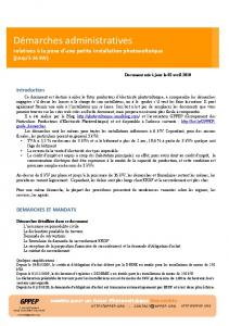 Démarches administratives - GPPEP