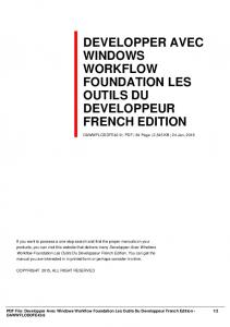 developper avec windows workflow foundation les ...  AWS