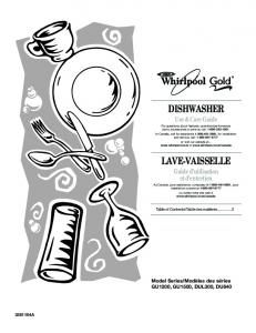 dishwasher lave-vaisselle - Whirlpool Corporation