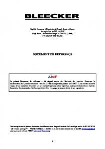 DOCUMENT DE REFERENCE 2013